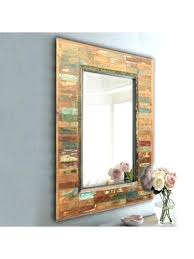 rustic wood framed mirrors. Reclaimed Wood Mirror Frame Antique Rustic Furniture Wooden Framed Mirrors 3
