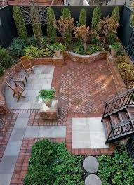 small brick patio ideas i like this especially the pergola thingy and low wall
