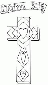 Cross John 3 16 Coloring Pages Bible Pictures Pinterest 218026