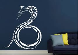 snake tribal wild life wall stickers