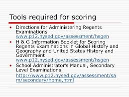 Ppt Regents Examinations In Global History And Geography