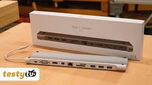 Chiny: <b>Gocomma</b> - Aluminiowy, uniwersalny HUB USB-C <b>11</b> w <b>1</b> ...
