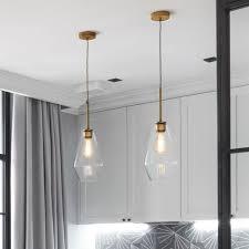 bar lamp kitchen glass pendant light