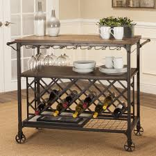 white casual serving cart