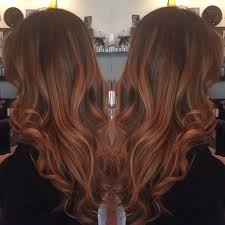 Natural Balayage With Rich Coppery Redbrown Perfect For Fall
