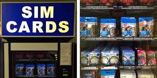 Sim Card Vending Machine Cool Data Roaming Report 48 UK