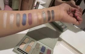 swatch stila garden eyeshadow palette