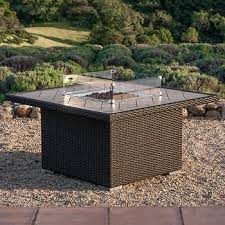 outdoor fire table. Sirio™ Niko Brown Propane Fire Pit Table Outdoor Costco Wholesale