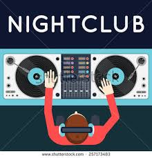 deejaying stock photos royalty images vectors shutterstock dj playing vinyl top view of dj workspace turntables and mixer night club