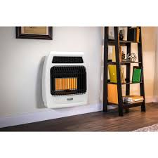 dyna glo 18 000 btu natural gas infrared vent free thermostatic wall heater