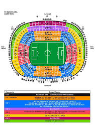 Fc Barcelona Seating Chart Fc Barcelona Camp Nou Access To Your Ticket Seats Information