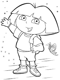Small Picture Children Dora The Explorer Coloring Book On Style Picture Coloring