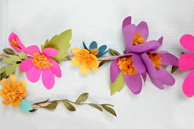 Paper Flower Garlands Easy Tutorial Of Paper Flower Garland Truly Hand Picked