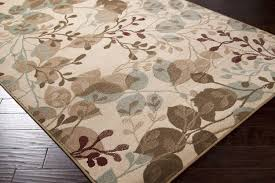 3x5 artistic modern fl aqua blue brown area rug carpet with extravagant details this rug is perfect for any home this area rug has a transitional