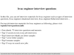 Hvac Engineer Interview Questions Ideas Collection Interview Thank