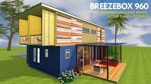 House Designs Using Shipping Containers Prefab Shipping Container Homes Design With House Floor Plans And Pictures Breezebox 960