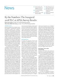 By The Numbers The Inaugural 2018 Tlc At Apsa Survey Results Ps