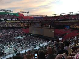 Fedex Seating Chart U2 Fedex Field Section 324 Row 19 Seat 7 U2 With The