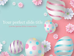3d Easter Background Powerpoint Template And Google Slides Theme