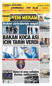 20 Kasım 2020 Yeni Meram Gazetesi - Yeni Meram