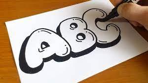 draw graffiti bubble letters abc