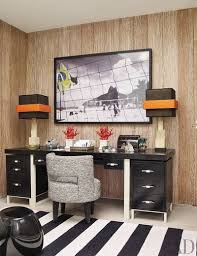 Home office designer Rustic Desk In The Late Designer Alberto Pintos Rio De Janeiro Home Office Is Surmounted By Spacemakers Closets 50 Home Office Design Ideas That Will Inspire Productivity