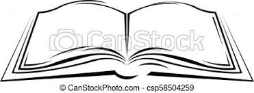 symbolic sketch of open book simple style textbook csp58504259