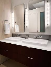 bathroom vanity side lights. side lights bathroom contemporary with mirror nature floral print bath sheets vanity o