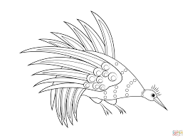 Small Picture Rainbow Bowerbird Aboriginal Art coloring page Free Printable