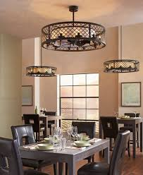 ceiling fan for kitchen with lights. Stunning Ceiling Fan For Kitchen With Lights Light Above Black Leather Dining Chairs L
