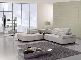 Simple Modern Living Room Furniture Nice Small White Leather Sofa Design For Modern Living