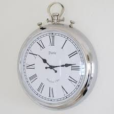 reliable oversized pocket watch wall clock beautiful large silver from bliss and bloom co