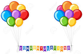 word of congratulations background design with balloons and word congratulations