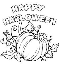 Small Picture Halloween Cat And Pumpkin Coloring Pages Festival Collections