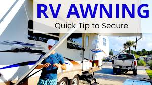rv awning how to use it a tip for securing the awning