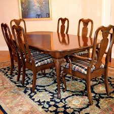 queen anne style dining room chairs surprising dining table and six chairs within harden furniture co