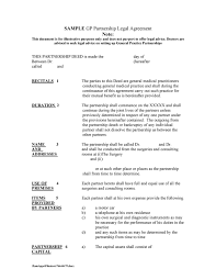 Although a partnership deed can be an oral or written, an agreement for partnership needs to be written. 40 Free Partnership Agreement Templates Business General