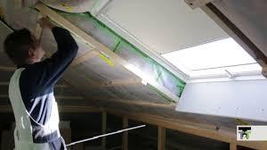 Velux Fenster Verkleiden Mit Trockenbau Dachflächenfenster