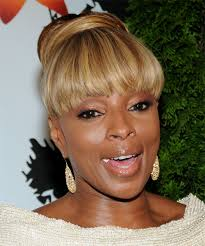 mary j blige updo long straight formal updo hairstyle side view
