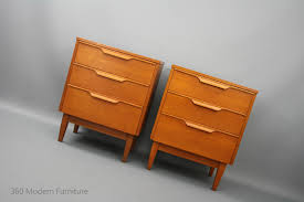 MID Century Modern Reliance Bedside Tables Chest OF Drawers Retro ...