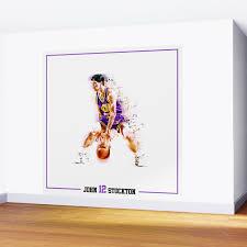nba greatness in motion john stockton wall mural