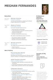 Format Of Teacher Resume Physical Education Teacher Resume samples VisualCV resume samples 95