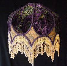 lamp shades design beaded lamp shade brown golden purple crystall fringed lamps about victorian ideas
