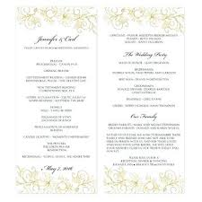 Tea Length Wedding Programs Greenery Program Printable