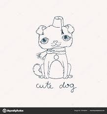 Puppy Mopshond In Een Fez Met Een Kwast Voor Kleurboeken Of