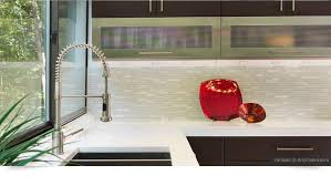 Brown Modern Kitchen Cabinets White Glass Kitchen Backsplash Tile