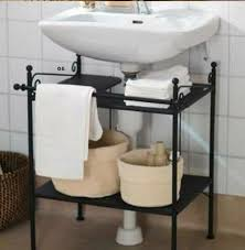 creative under sink storage ideas sink shelf wall mounted sink under pedestal sink storage rack
