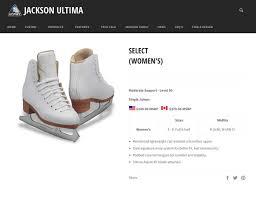 Gam Figure Skates Size Chart Jackson Ultima Gam Concept Select Womens And Girls White Figure Ice Skates