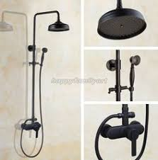 <b>Black Oil</b> Rubbed Brass Bathroom Rainfall <b>Shower Faucet</b> Set Mixer ...