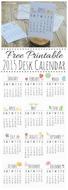 free printable desk calendar for 2016 makes a great gift idea cleanandscentsible